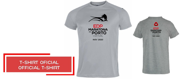 T-shirt oficial Maratona do Porto EDP 2020